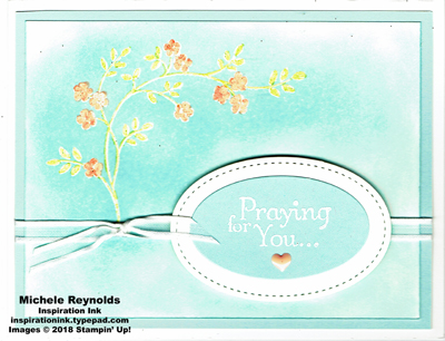 Thoughts & prayers soft sky flowers watermark