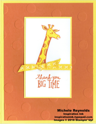 Animal outing polka dot giraffe thanks watermark