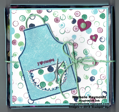 Apron of love embellishment box watermark