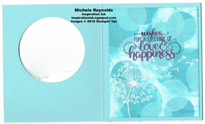 Dandelion wishes bokeh tri-fold inside watermark