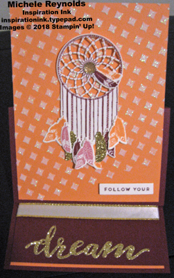Follow your dreams easel card open watermark