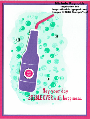 Bubble over bubble happiness watermark