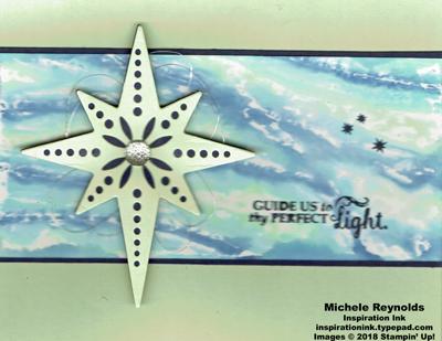 Star of light sky swirls watermark
