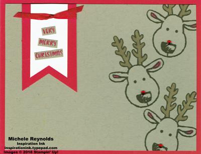 Cookie cutter christmas falling reindeer watermark