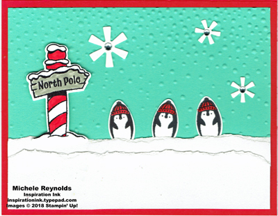 Making every day bright penguin march watermark