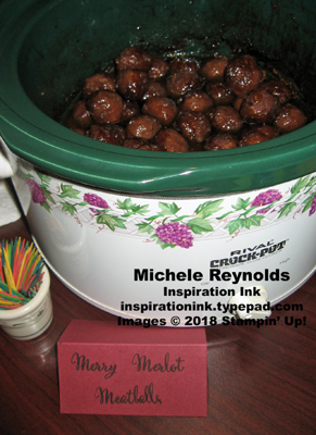 Make a difference merry merlot meatballs