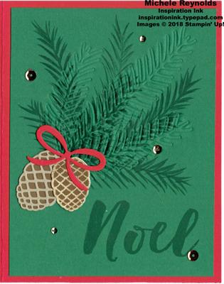 Christmas pines dry embossed spruce watermark