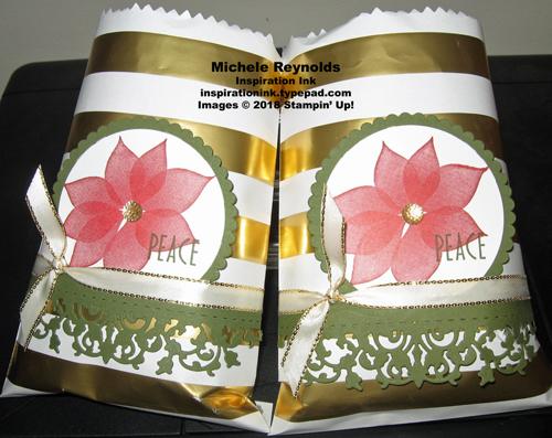Stylish christmas poinsettia treat bags