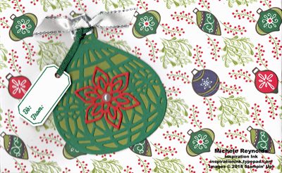 Tags & tidings ornament gift certificate holder watermark
