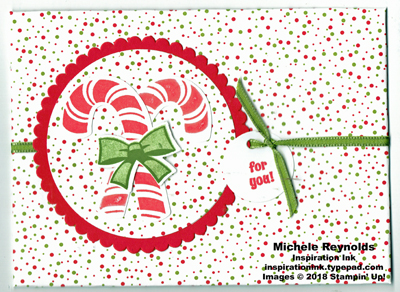 Candy cane season crossed canes envelope watermark