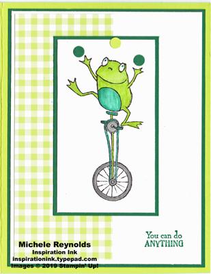 So hoppy together juggling gingham frog watermark