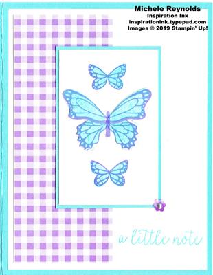 Butterfly gala gingham butterfly trio watermark