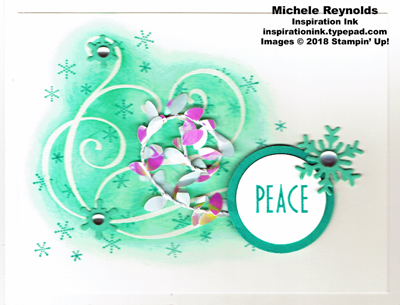 Stylish christmas peaceful swirls watermark