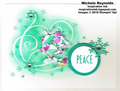 Stylish christmas peaceful swirls watermark