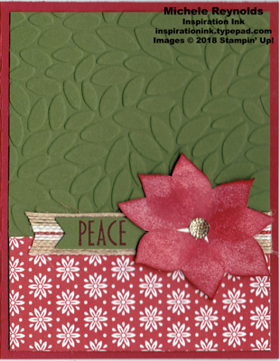 Stylish christmas dashing poinsettia watermark
