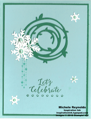 Detailed with love swirly snowflake wreath watermark