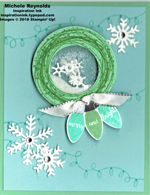 Making christmas bright wreath shaker watermark