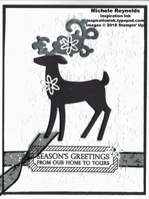 Merry christmas to all black & white deer watermark