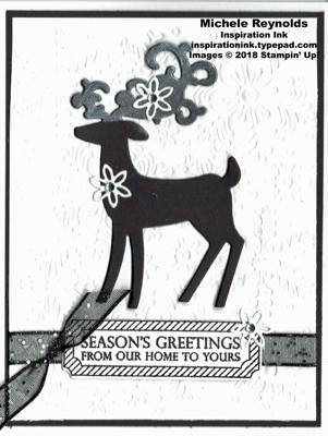Merry christmas to all black & white deer watermark