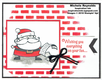 Signs of santa brick wall watermark