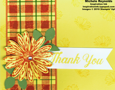 Daisy delight fall plaid daisy watermark