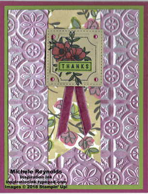 Darling label punch box shimmery flower thanks swap watermark