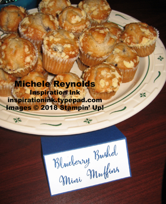 Make a difference blueberry bushel mini muffins