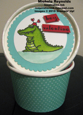 Hey love alligator sweet treat cup