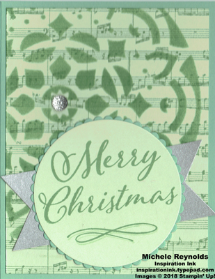 Merry christmas to all mint foam medallion watermark