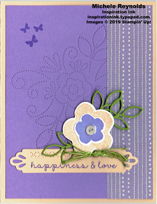 Needle & thread highland pink flower watermark