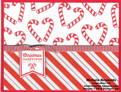 Candy cane season stripes tag watermark