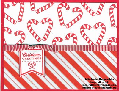 Candy cane season stripes tag watermark
