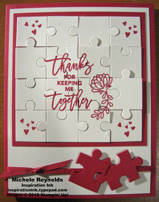 Love you to pieces puzzle card assembled watermark