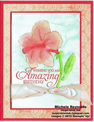 Humming along no line hibiscus watermark