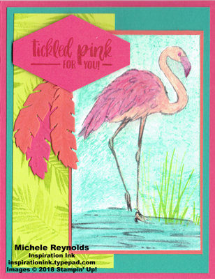 Fabulous flamingo penciled flamingo watermark