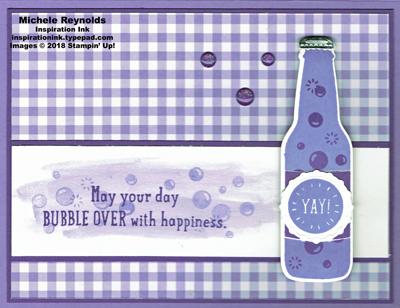 Bubble over grape soda gingham watermark