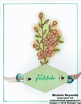 Touches of texture copper flower gratitude watermark