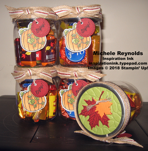 Seasonal chums fall candy jars