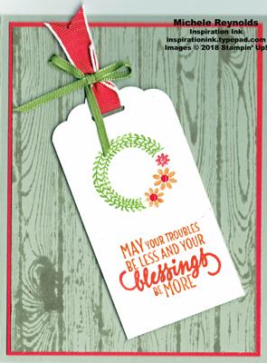 Barn door blessings wreath tag watermark