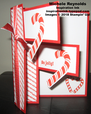 Candy cane season accordion fold open watermark