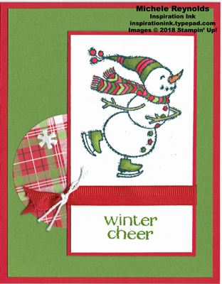 Spirited snowmen plaid skater watermark