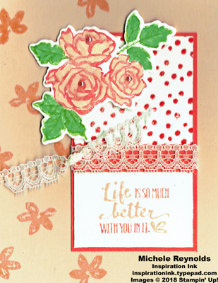 Petal palette pink roses watermark