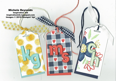 Lined alphabet bag tags watermark