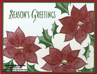 Stylish christmas scattered poinsettias watermark