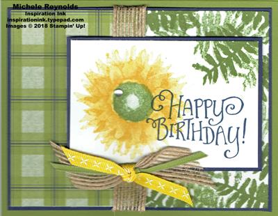 Painted harvest plaid burlap flower watermark