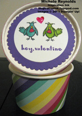 Hey love birds sweet treat cup