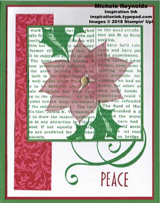 Stylish christmas newsprint poinsettia watermark