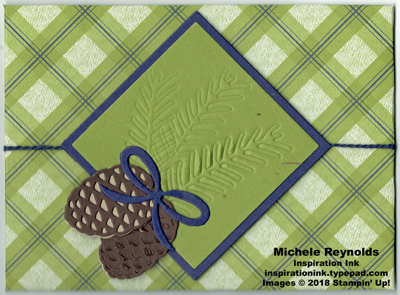Tags & tidings pine cone envelope watermark
