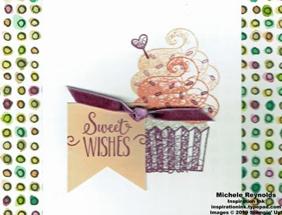 Hello cupcake sweet wishes banner watermark