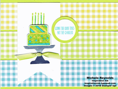 Piece of cake gingham good times watermark
